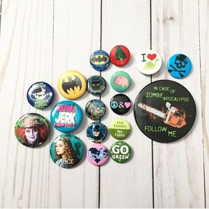 18 Buttons - Pins - Punk Pins - Brooches